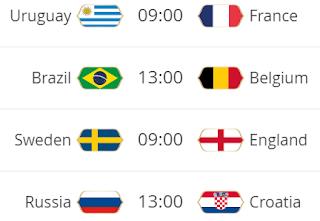 partidos cuartos de final mundial 2018