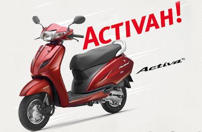 Honda Activa 4G Red colour wallpaper