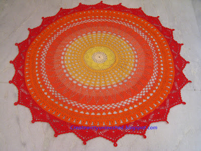 Crochet large doily 4