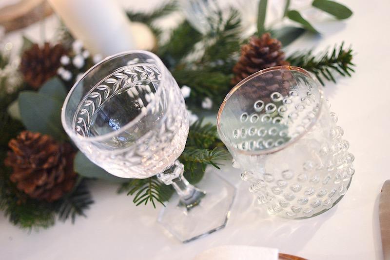 verre bord doré H&M Home et verre Villeroy et boch