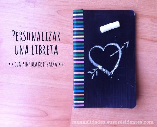 Dibujo De Hada Para La Portada De Una Libreta De Una Ni A: Manualidades: Personalizar Cuadernos Con Pintura De Pizarra