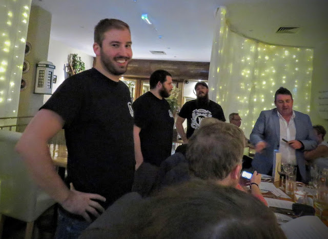 Representatives from White Hag Brewery in County Sligo at Eala Bhán restaurant