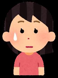 困る表情のイラスト2(女性)
