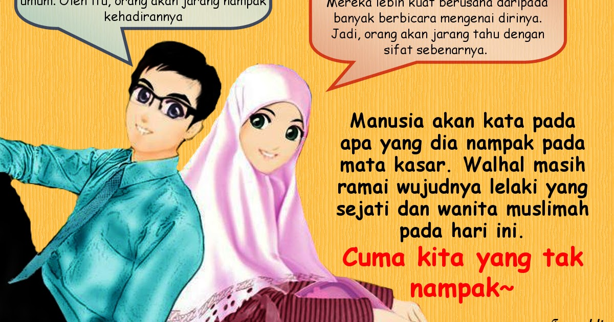 Foto Kartun Pasangan Muslim Dan Muslimah Bestkartun