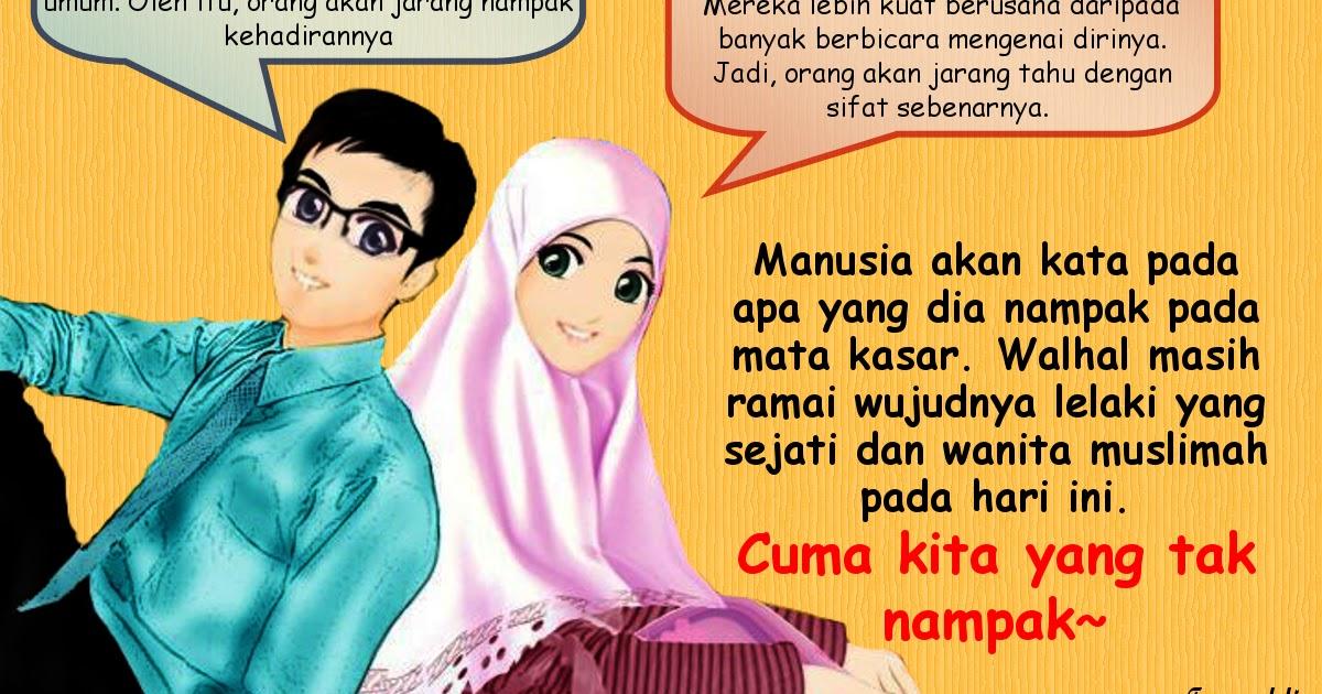 Gambar Kartun Wanita Pria Muslim Gambar Kartun Muslim Muslimah Pria Wanita Pasangan Top Gambar