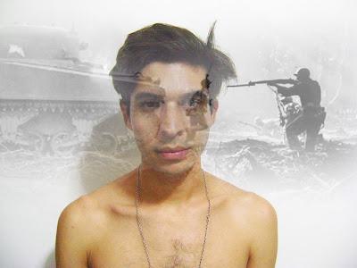 Edit fotografico en photoshop inspirado en las guerras internas que libramos