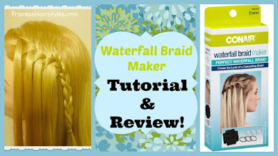 Waterfall braid maker review and tutorial. Made by Conair.