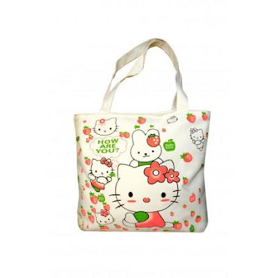 Bolso de moda de tela con Hello Kitty