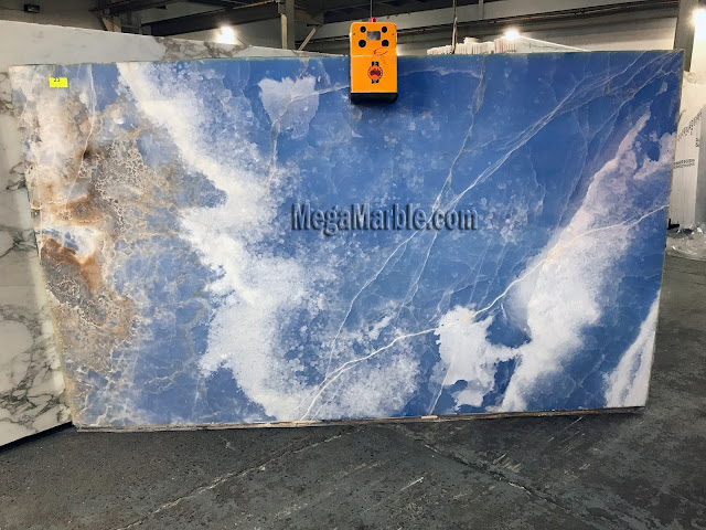Blue Onyx slabs for countertops