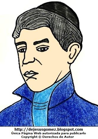 Dibujo de Toribio Rodríguez de Mendoza pintado a colores. Dibujo de Toribio Rodríguez de Mendoza hecho por Jesus Gómez