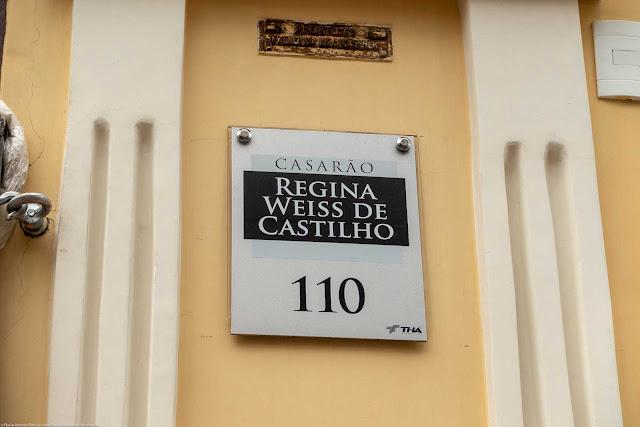 Edifício Guilherme Weiss, uma Unidade de Interesse de Preservação na Rua Riachuelo - detalhe