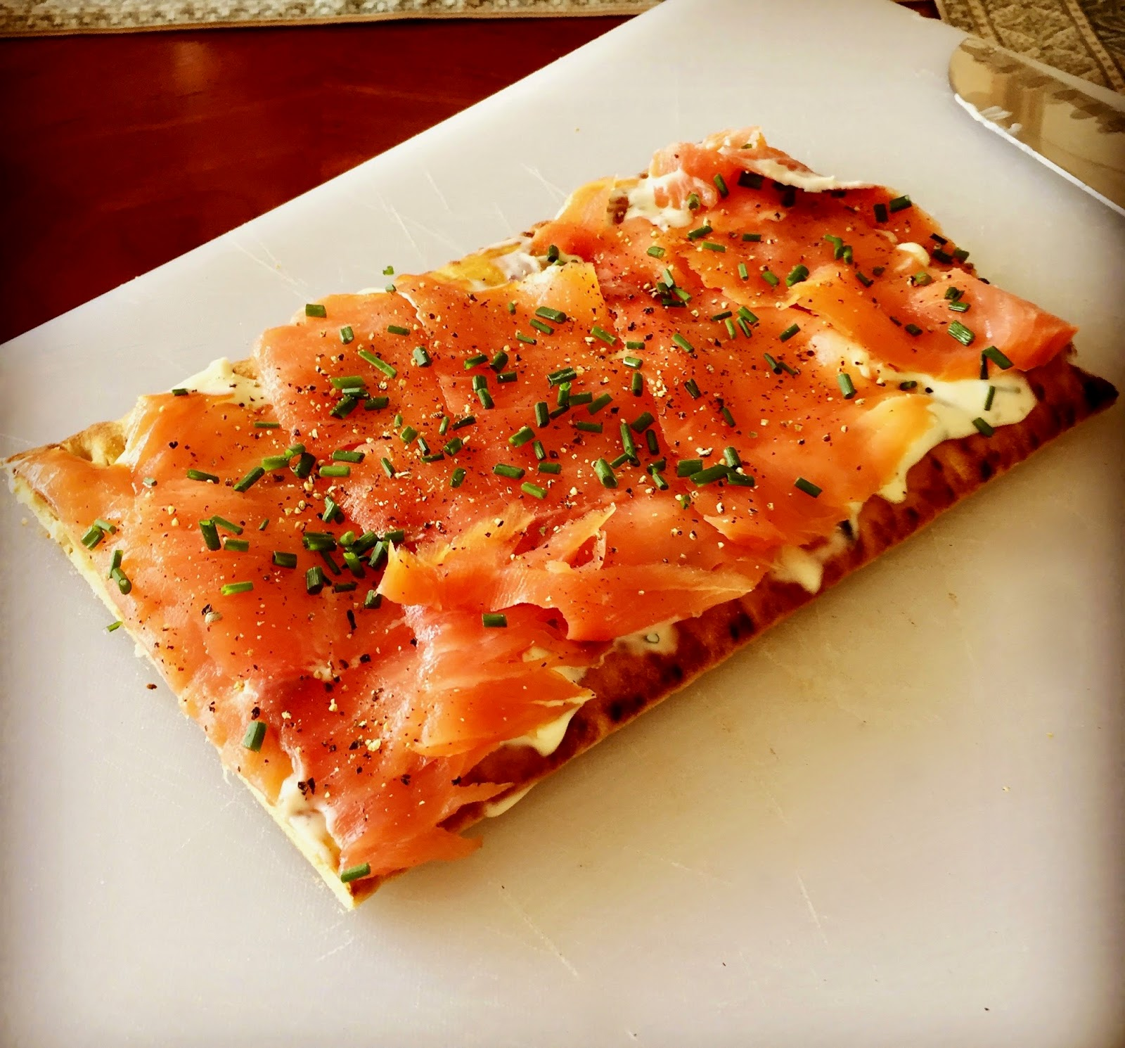 "Ina Garten's Smoked Salmon Pizzas From ""Cooking For"
