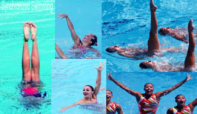 Synchronized swimming sport