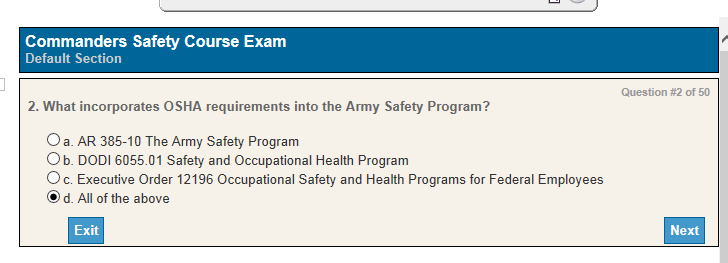 SSD 2 : Commanders Safety Course Answers (2G-F94v3 1)
