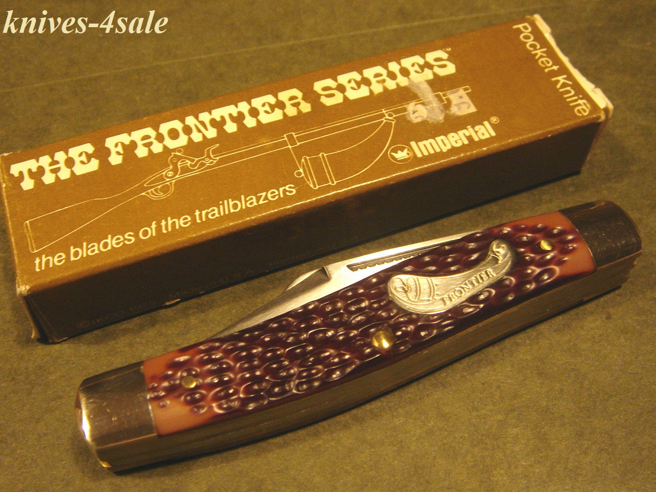 knives-4sale: Imperial Frontier USA #4431 Stockman Powder Horn