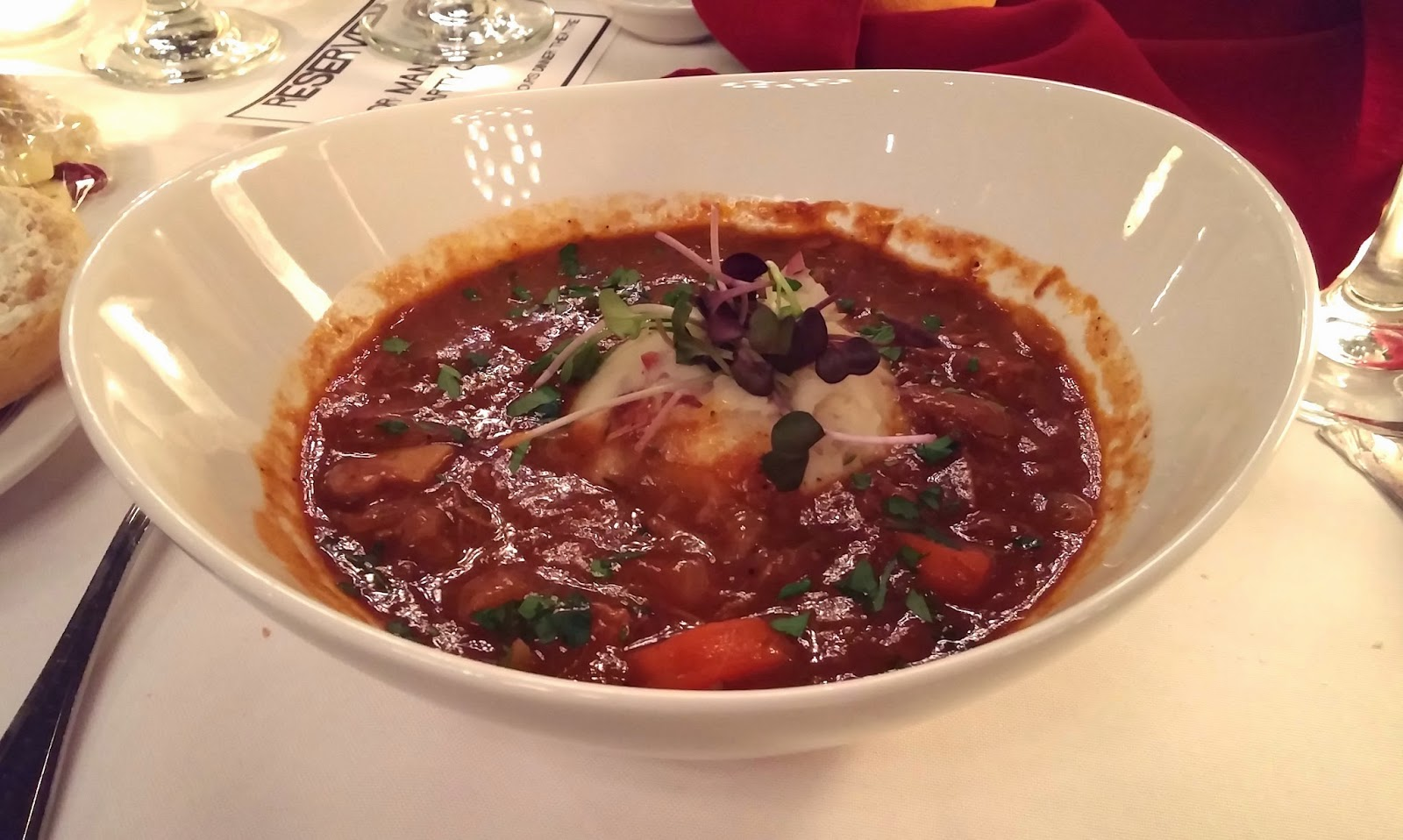Mysteriously Yours Dinner Theatre: Getting Hitched - Provençale beef stew