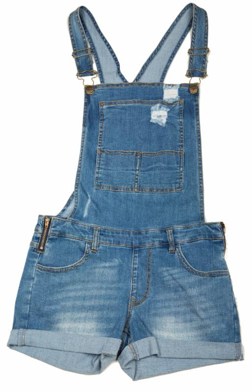 denim shortall Wild Blue Denim
