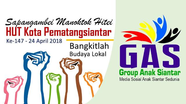 Budaya Siantar, Budaya Marsipasangapan - Cover Group Facebook Group Anak Sianatr (GAS) di HUT Kota Pematangsiantar yang ke 147