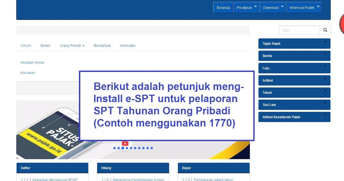 Cara Installl e-SPT untuk Pelaporan SPT Tahunan OP