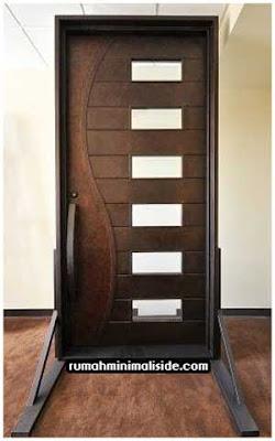 model desain pintu kayu minimalis modern