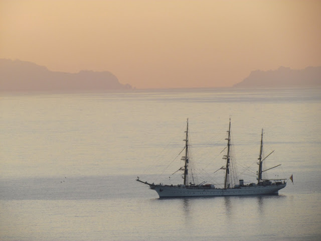 Gorch Fock in a beautiful morning in Funchal bay