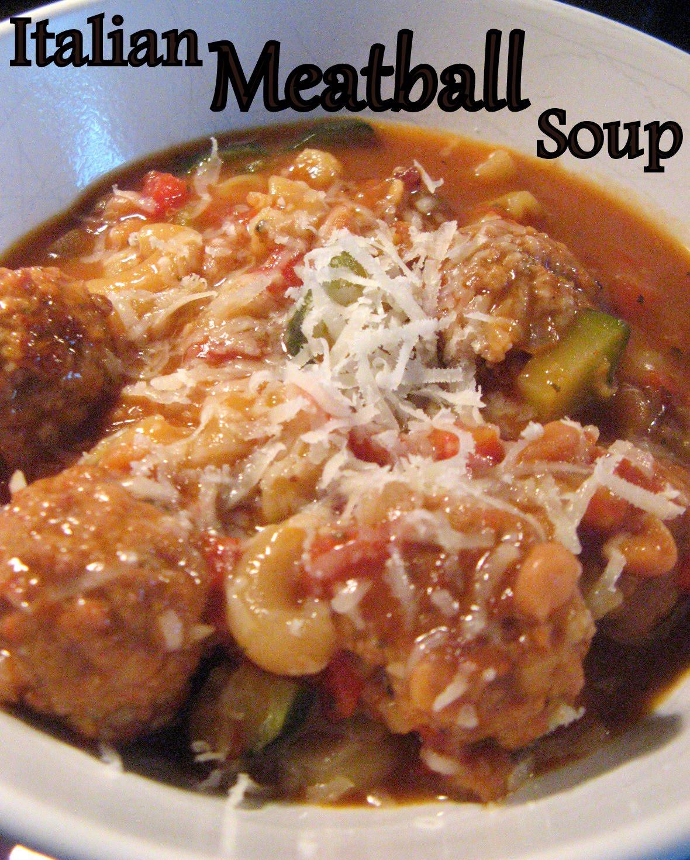 The Baking Bookworm: Italian Meatball Soup