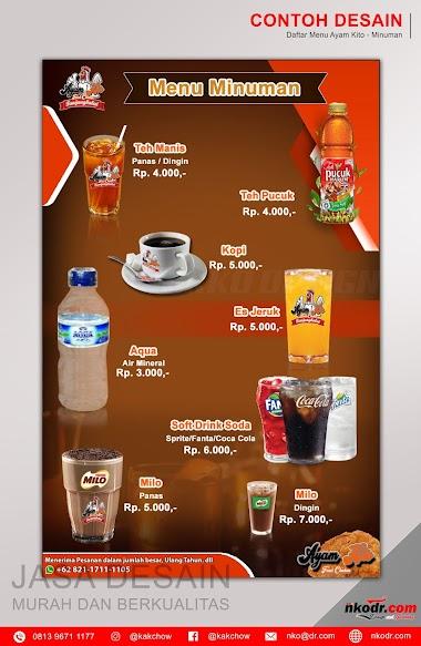 Contoh Desain List Menu / Buku Menu/ Daftar Menu Makanan 3 | Percetakan Murah Tanjungbalai