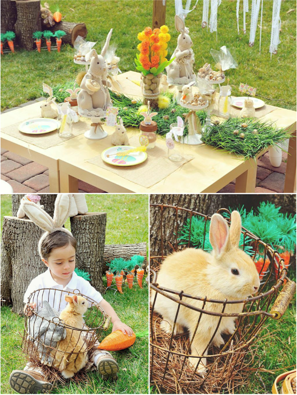 A Sweet Family Easter Egg Hunt Party - via BirdsParty.com