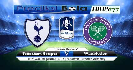 prediksi skor Tottenham Hotspur vs Wimbledon 07 januari 2018