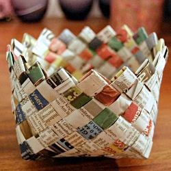 Kerajinan Tangan Dari Koran, Aneka Kreasi Kertas Koran Bekas 13