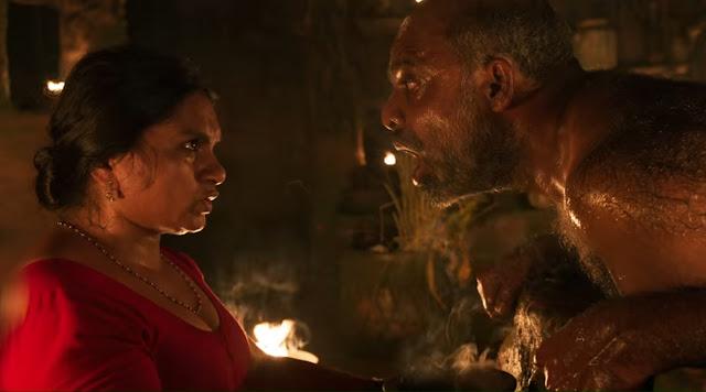 A still from the trailer of 'Churuli'
