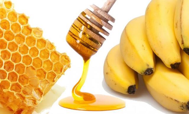 máscara caseira de banana e mel