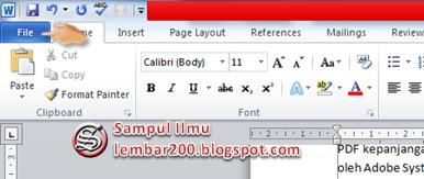 Cara Mudah membuat file PDF di Word 2010