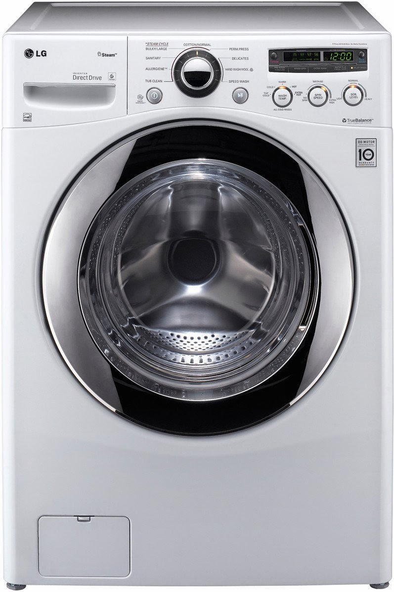 LG WM2650HRA 3.6 CF White Front Load Steam Washer