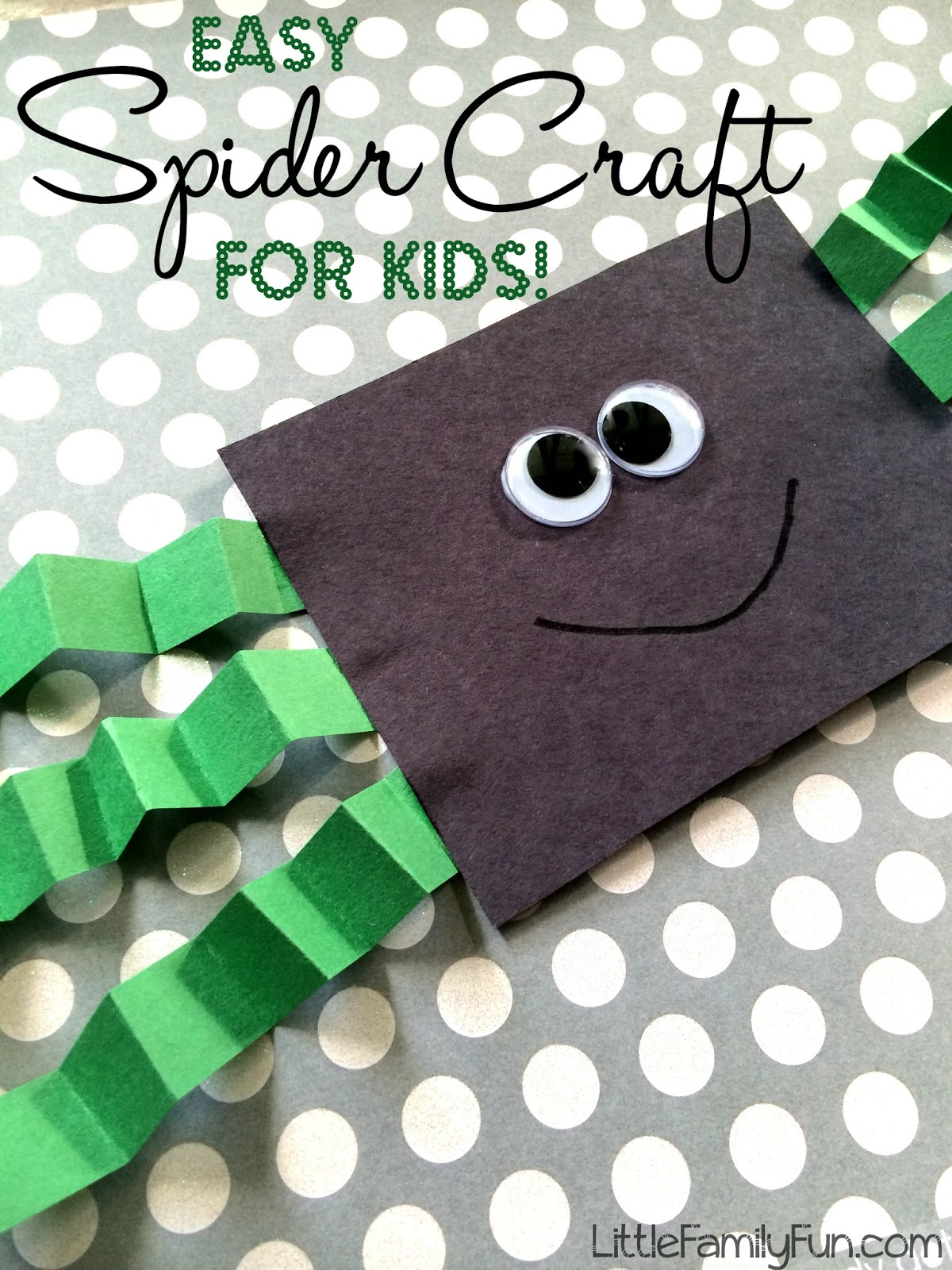 Easy spider craft for kids for Easy art and craft