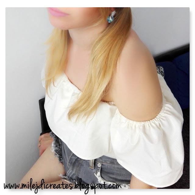 Modna bluzka z falbaną z męskiej koszuli DIY jak zrobić. bluzka z koszuli męskiej, jak przerobić męską koszulę