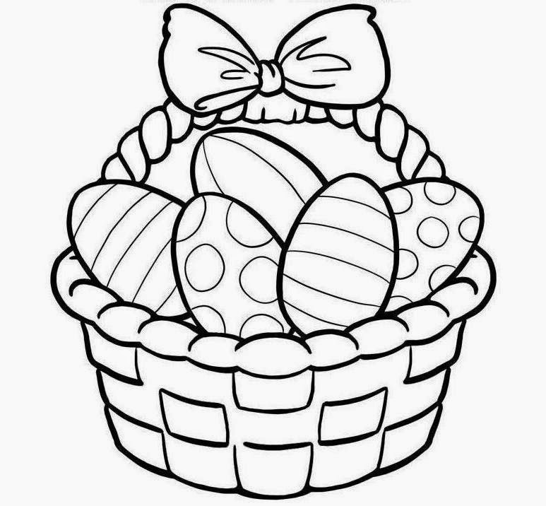 easter basket coloring page - colour drawing free wallpaper easter basket coloring