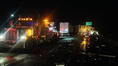 fresno two big rigs accident southbound highway 99 onions jensen avenue