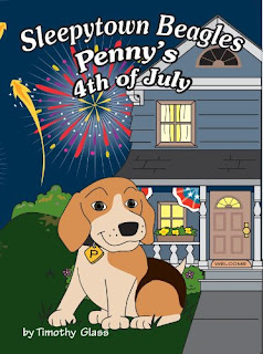 Sleepytown Beagles, Penny's 4th of July by Timothy Glass