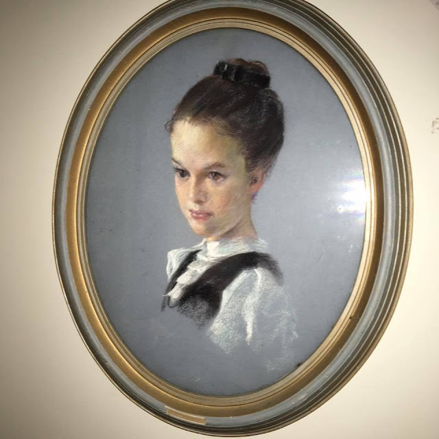 Image of pastel portrait of Ada-Lee Quirk  as an 11 year old  by Francis Quirk
