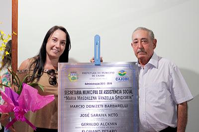 Novo prédio da Assistência Social é inaugurada em Cajobi
