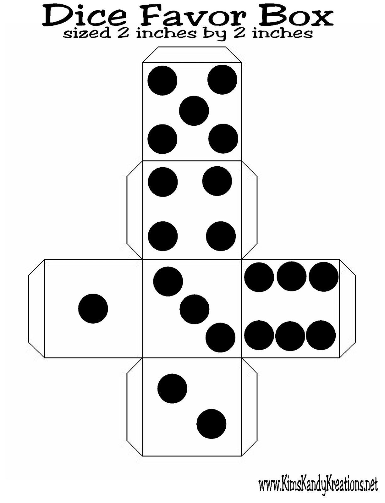 Simplicity image within dice printable