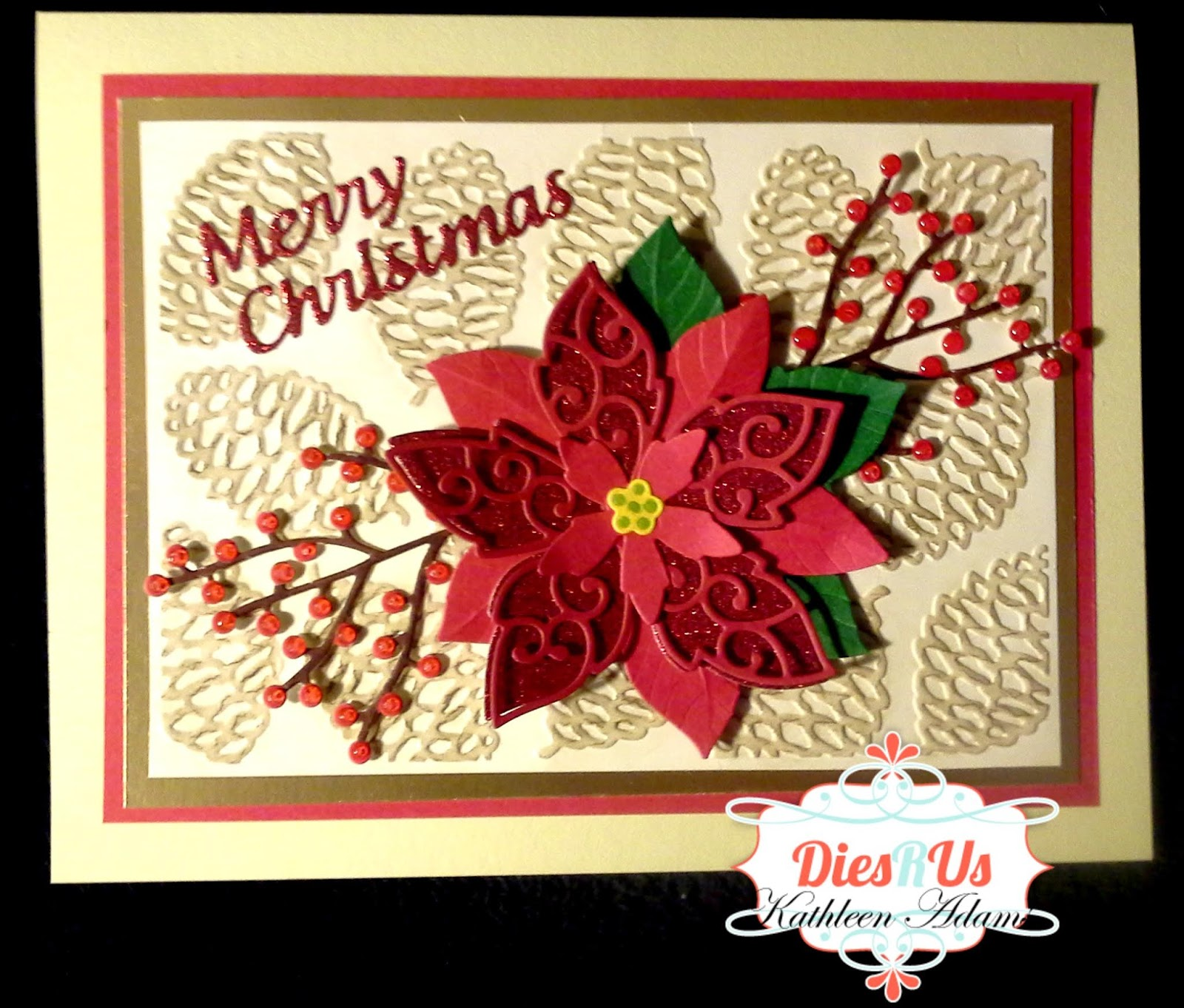 Dies R Us: A Beautiful but easy to make Christmas Card