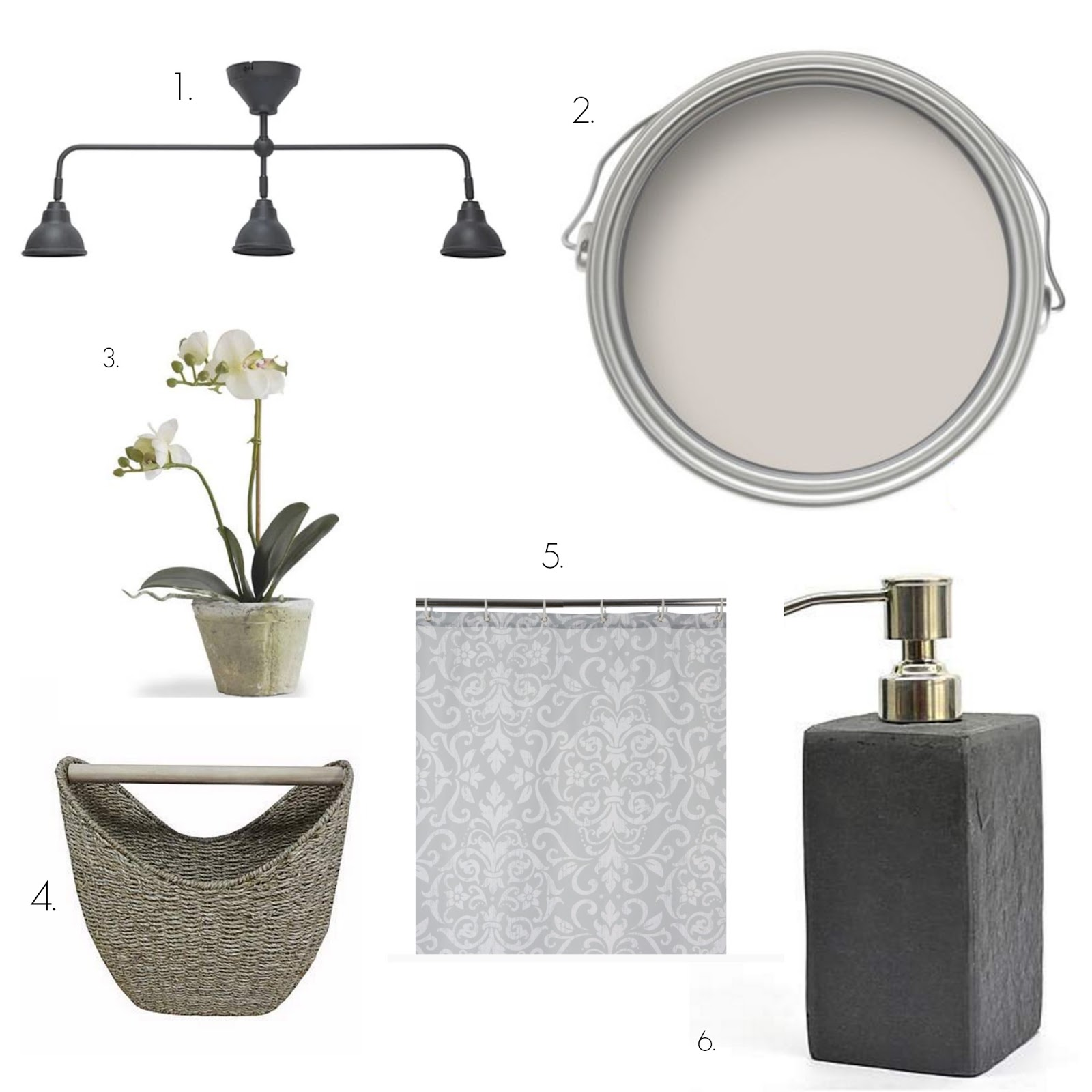 Bathroom Ideas - Slate, Grey and White | Andrea Louise