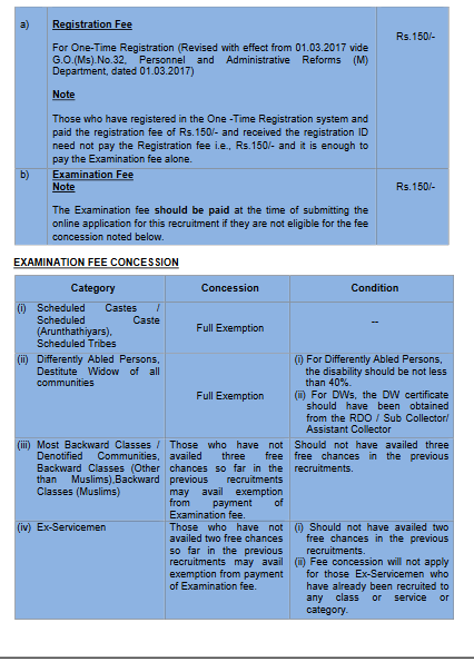 Tamil Nadu Public Service CommissionTNPSC Recruitment Notification