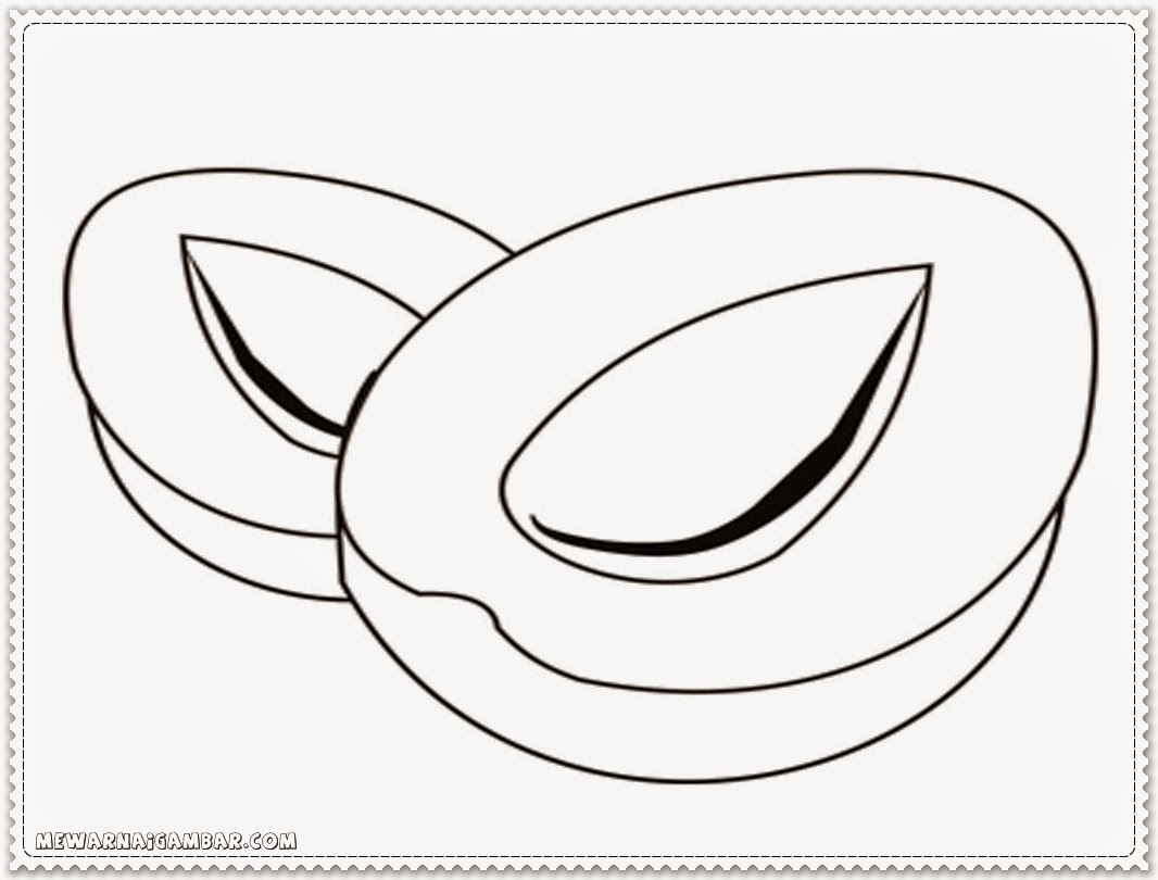 Apricot Coloring Pages For Kindergarten
