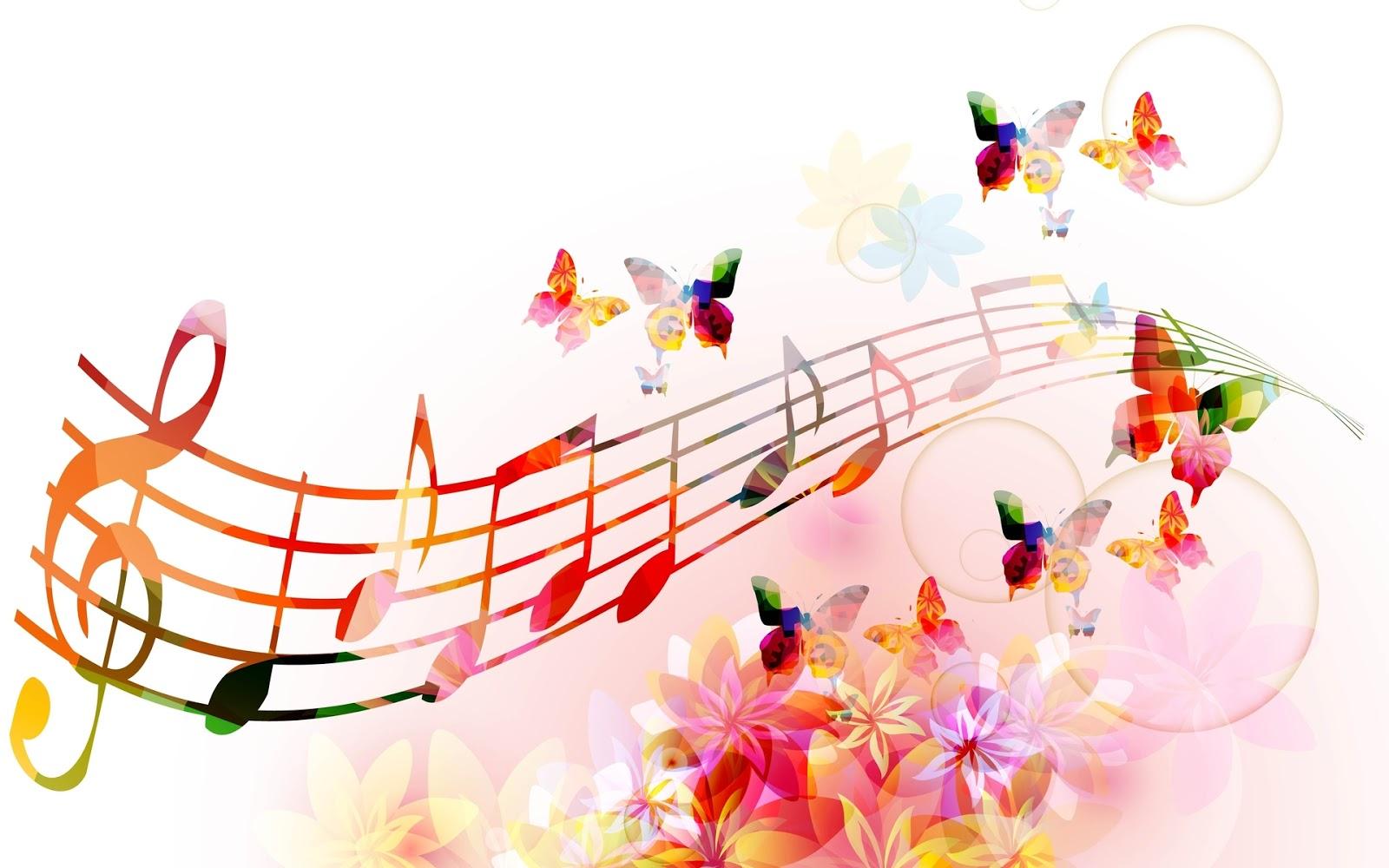 Mis Fondos Para Fotos Gratis: Fondo De Pantalla Abstracto Notas Musicales