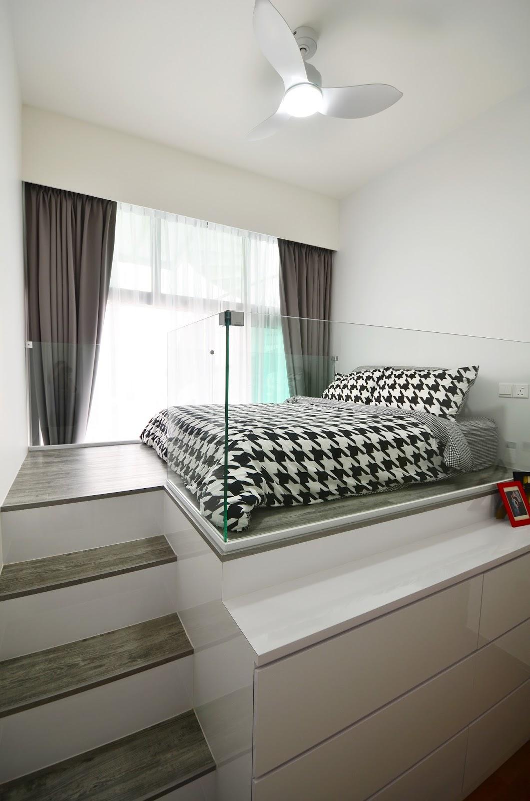 Ashlyn Thia: Thomashlynshome #4: Master bedroom\'s platform bed ...