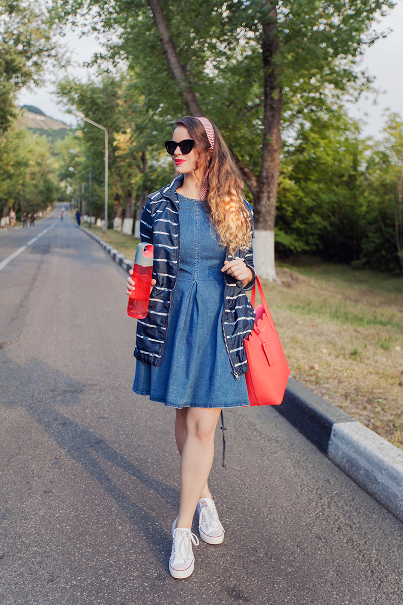 ASOS Denim Skater Dress