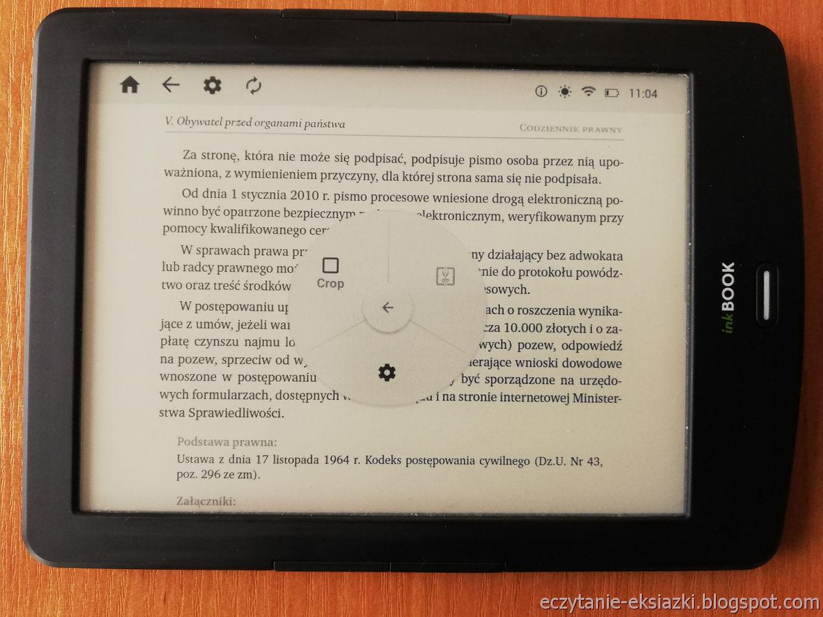 PocketBook Reader InkBOOK LUMOS – PDF przed przycięciem marginesów